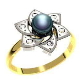 Кольцо с жемчугом 1177