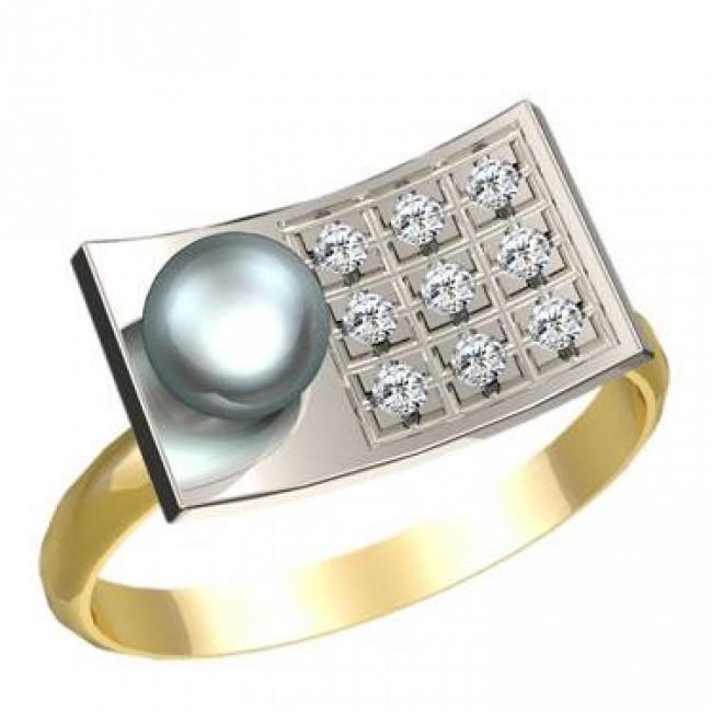 Кольцо с жемчугом 1179