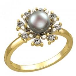 Кольцо с жемчугом 1202