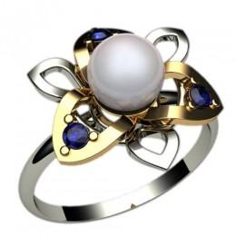 Кольцо с жемчугом 1237