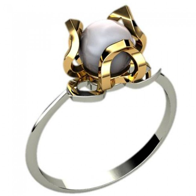 Кольцо с жемчугом 1225