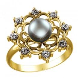 Кольцо с жемчугом 2335