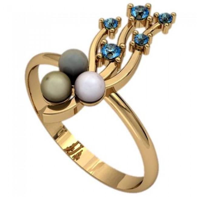 Кольцо с жемчугом 2356