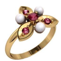 Кольцо с жемчугом 2358