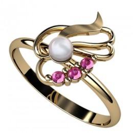 Кольцо с жемчугом 2388