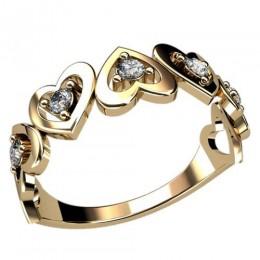 Женское кольцо классическое 2407