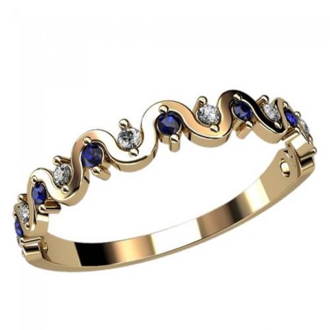 Женское кольцо классическое 2408