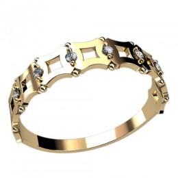 Женское кольцо классическое 2411
