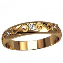 Женское кольцо классическое 2471