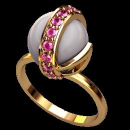 Кольцо с жемчугом 2499