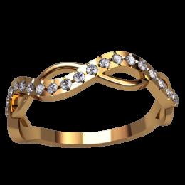 Женское кольцо классическое 2515