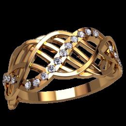 Женское кольцо классическое 2527