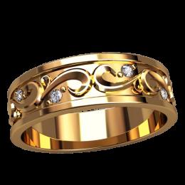 Женское кольцо классическое 2530
