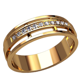 Женское кольцо классическое 2531