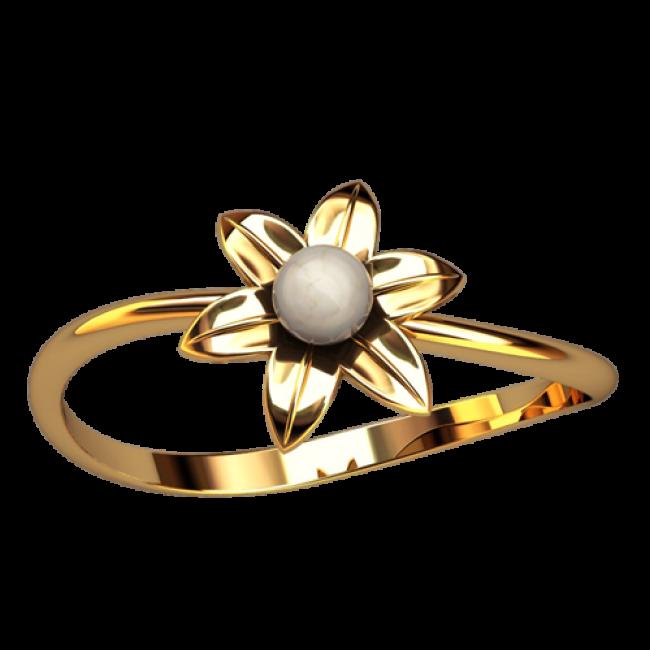 Кольцо с жемчугом 2563