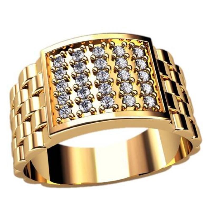 Золотые мужские кольца всегда покупаемы, всегда востребованы - будь то белое золото, красное, цветное