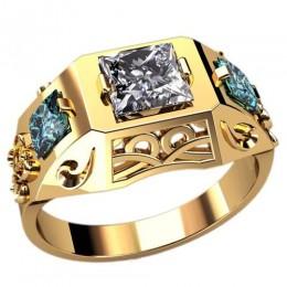 Мужское кольцо 3102