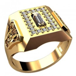 Мужское кольцо 3104