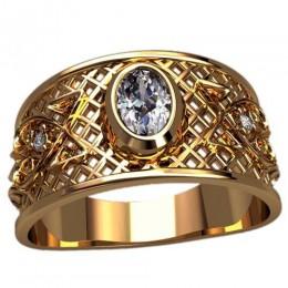Мужское кольцо 3124