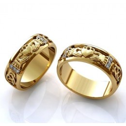 Кладдахские кольца обручальные (цена за пару)