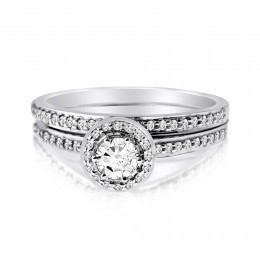 Audrey bridal set (Набор колец невесты)