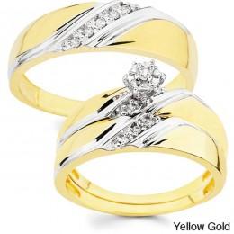 Classic wedding set yellow gold