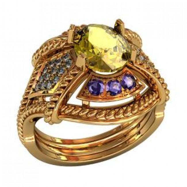 Женский перстень 000160