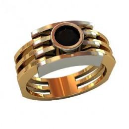 Мужское авторское кольцо 000490