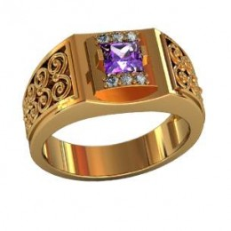 Мужское авторское кольцо 000520