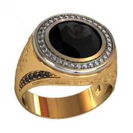 Мужское авторское кольцо 000560