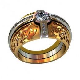 Мужское авторское кольцо 000580