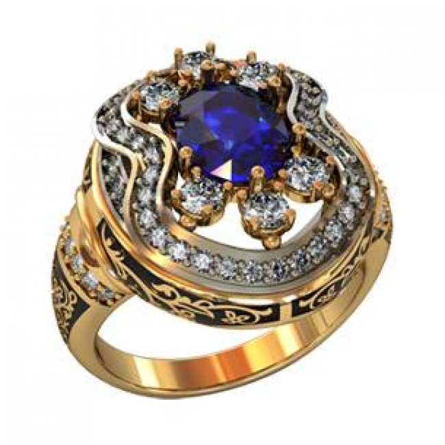 Мужское авторское кольцо 001510