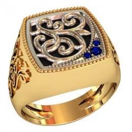 Мужское авторское кольцо 002160