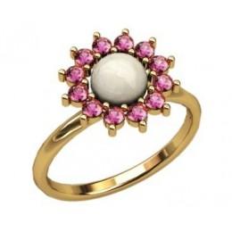 Кольцо с жемчугом 2297