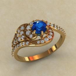 Женское кольцо КЕ-632