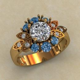 Женское кольцо КЕ-633
