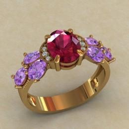 Женское кольцо КЕ-634