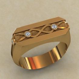 Мужское кольцо КМ-644