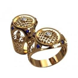 Мужское кольцо 3177