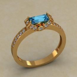 Женское кольцо 0684