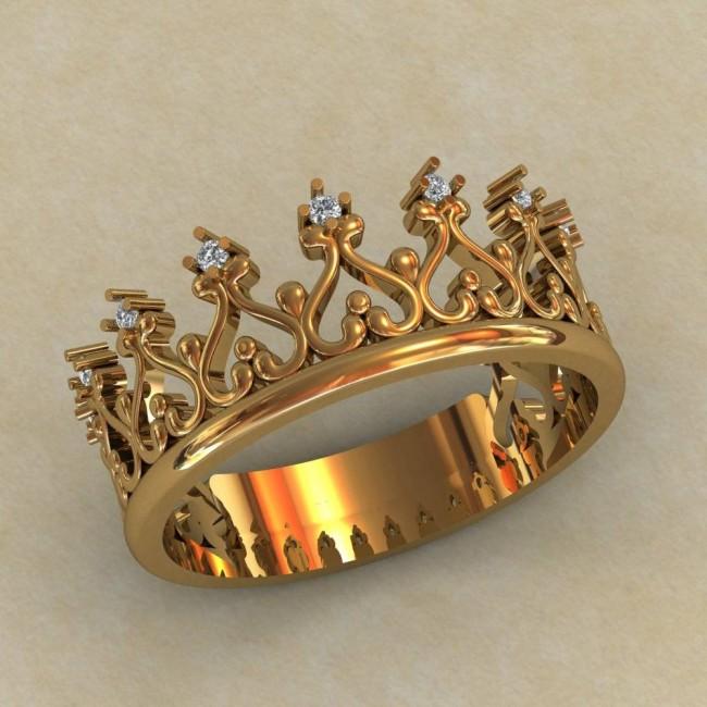 Кольцо корона 0699
