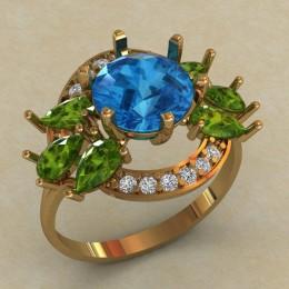 Женское кольцо 0734