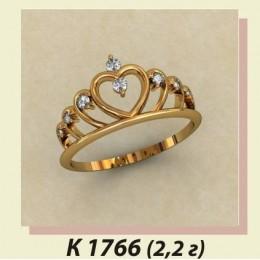 Кольцо корона 1766