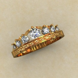Кольцо корона 0343-КЕ