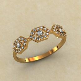 Женское кольцо 0446-КЕ