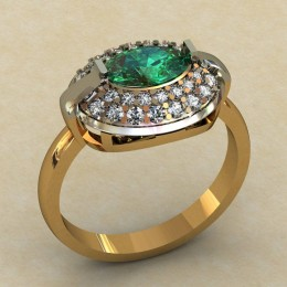 Женское кольцо 0467-КЕ