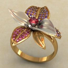 Женский перстень 0474-КЕ