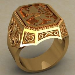 Мужское кольцо 0482