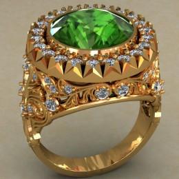 Мужское кольцо 0484
