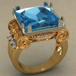 Мужское кольцо 0490